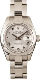 Pre Owned Rolex Ladies Datejust 179160 Silver Dial