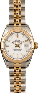 Pre-Owned Rolex Datejust Two Tone 179173 White Dial