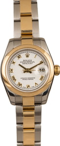 Ladies Rolex Datejust 179163 White Roman Dial