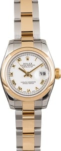 Used Ladies Rolex Datejust 179163 Roman Dial