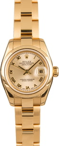 Used Rolex Gold Ladies Datejust 179168