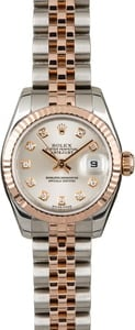 Rolex Datejust 179171 Silver Diamond Dial
