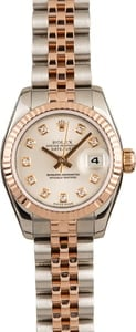 Pre-Owned Rolex Datejust 179171 Silver Diamond Dial