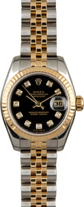 Rolex Datejust 179173 Black Dial with Diamonds
