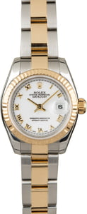 Used Rolex Datejust 179173 White Roman Dial