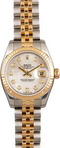 Pre Owned Rolex Datejust 179173 MOP Diamond Dial