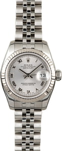 Used Rolex Lady Datejust 179174 Rhodium Dial