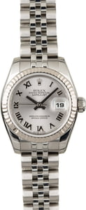 Used Rolex Lady Datejust 179174 Rhodium Roman