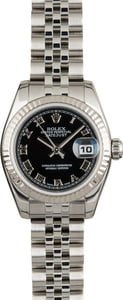 Used Rolex Datejust 179174 Black Roman Dial