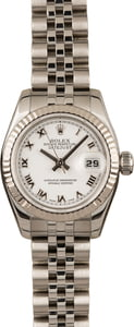 Pre-Owned Rolex Oyster Perpetual Datejust 179174 White Dial