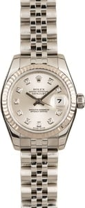 Ladies Used Rolex Oyster Perpetual 179174 Diamond Dial