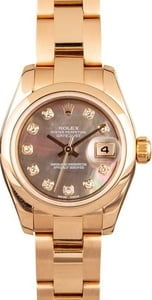 Ladies Diamond Datejust 179165 Rose Gold