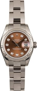 Rolex Datejust 179179 Bronze Diamond Dial