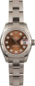 Rolex Datejust 123907 Bronze Diamond Dial