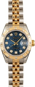 Rolex Lady Datejust 179313 Blue Jubilee Diamond Dial