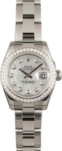 PreOwned Rolex Datejust 179384 Diamond Bezel