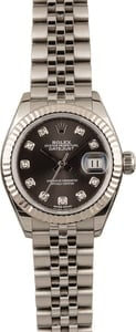 Pre Owned Rolex Datejust 279174 Dark Grey Diamond Dial