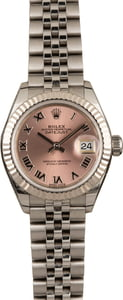 Pre-Owned Rolex Datejust 279174 Pink Roman Dial
