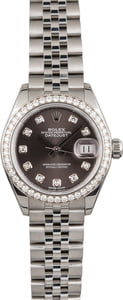 Rolex Lady-Datejust 28 Ref 279384 Dark Grey Diamond Dial