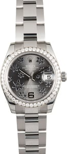 Rolex Datejust 31 Diamond 178384 Floral Motif