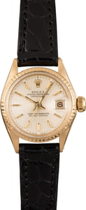 Pre Owned Rolex Ladies Datejust 6517 Tapestry Dial
