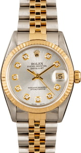 Midsize Rolex Datejust 68273 Diamond Dial