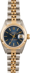 Rolex Datejust 69163 Blue Index Dial