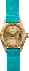 Pre Owned Rolex Datejust 6917 Torquoise Leather Bracelet