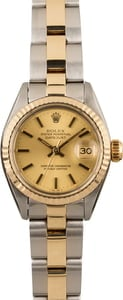 Pre Owned Rolex Datejust 6917 Two Tone Oyster Champagne Dial
