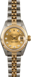 PreOwned Rolex Datejust 69173 Diamond Dial