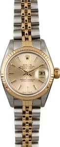 Used Rolex Datejust 69173 Silver Tapestry Dial