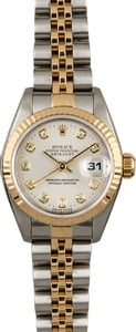 Used Rolex Datejust 69173 Silver Diamond Dial