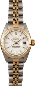Used Rolex Datejust 69173 White Index Dial