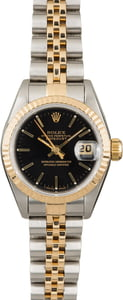 Used Rolex Datejust 69173 Black Index Dial
