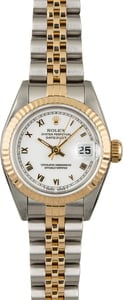 Rolex Datejust 69173 Two Tone with White Roman Dial