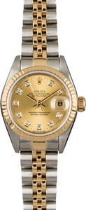 Rolex Datejust 69173 Champagne Diamond Dial