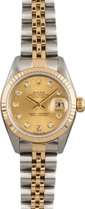 Rolex Datejust 69173 Diamond Champagne Dial