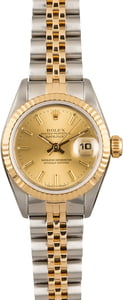 Rolex Datejust 69173 Two Tone with Fluted Bezel