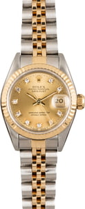 Used Rolex Datejust 69173 Diamond Champagne Dial