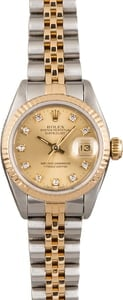 PreOwned Rolex Datejust 69173 Two Tone Bracelet Diamond Dial
