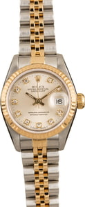 Ladies Rolex DateJust 69173 Diamond Dial
