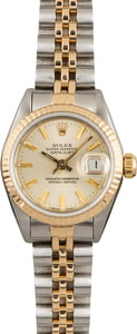 Pre Owned Rolex Datejust 69173 Silver Dial