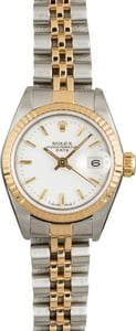 Pre Owned Rolex Datejust 69173 White Index Dial