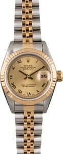 Pre Owned Rolex Datejust 69173 Champagne Roman Dial