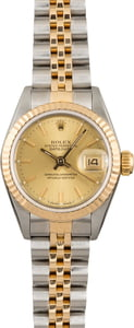 Used Rolex Datejust 69173 Champagne Index Dial