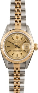 Pre Owned Ladies Rolex Datejust 69173 Champagne Dial
