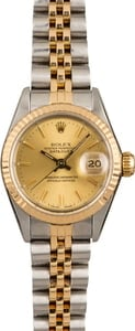 Pre Owned Rolex Datejust 69173 Champagne Index