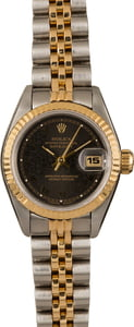 Pre-Owned Rolex Datejust 69173 Black Jubilee Roman Dial