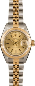 Pre-Owned Rolex Lady Datejust 69173 Champagne Dial