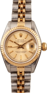 Lady Rolex Datejust 69173 Champagne Tapestry Dial